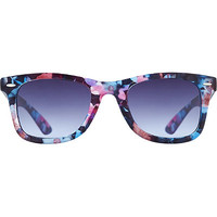 Black Floral Wayfarer Sunglasses