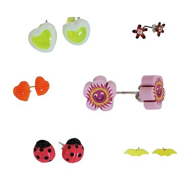 Buy One Get One Hypoallergenic & Tarnish-Free & Nickel-Free925 Sterling Silver Children Ear studs