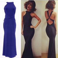Womens Lace Dress Formal Evening Wedding Long Prom Gown Side Slit Bodycon Dress