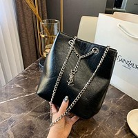 Saint Laurent YSL Fashion Black Leather Bucket bag