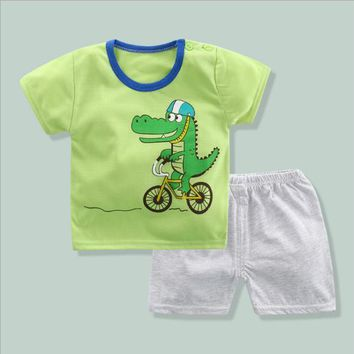 Summer Baby Boy Clothing Sets Newborn Infant Products Clothes Cartoon Outfits