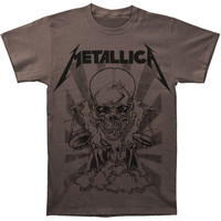Metallica Men's  Pushead Borris T-shirt Grey Rockabilia