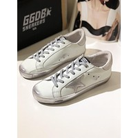 GGDB Golden Goose Uomo Donna Sliver Star Fashion Shoes Low Top White Sneaker