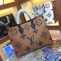 HCXX 19June 485 Louis Vuitton LV Manogram Sprint High-Capacity Onthego Handbag Tote Shopper 41-34-19 coffee black