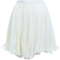 Cream Plisse Mini Skirt - View All  - Sale & Offers