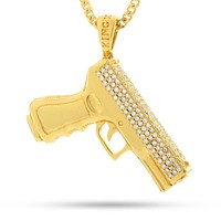 The 14K Gold 9mm Handgun Necklace