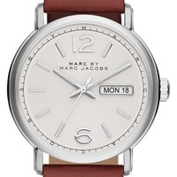 Men's MARC BY MARC JACOBS 'Fergus' Leather Strap Watch, 42mm