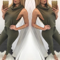 Casual Chic Jumpsuit Olive
