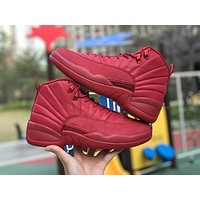 2020 new arrival Air Jordan 12 Gym Red Men Fashion Casual Sneakers Running basketball Shoes