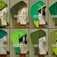 Legend of Zelda - handmade custom cosplay Link hat in Your Color Choice