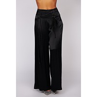 What Do I Have To Do Satin Pants (Black)