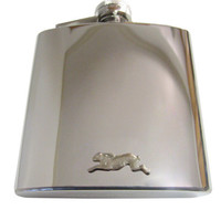 Leaping Rabbit 6 oz. Stainless Steel Flask