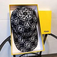 FENDI Hot Sale Women Men Sports Sun Hat Baseball Cap Hat Black