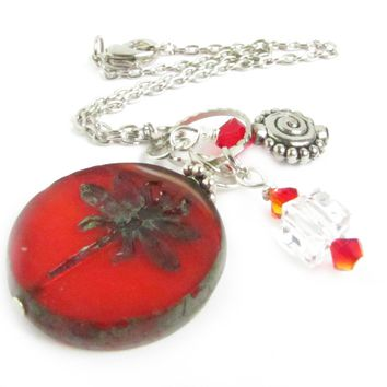 Dragonfly Rearview Mirror Car Charm