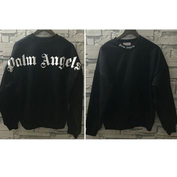 Fashion Palm Angels Hoodie Women Men Palm Angels Big Letter printing Sweatshirts Black Casual Palm Angels Sweatshirts Pullover