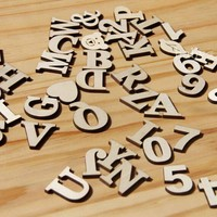 Art Crafts Wooden Letters DIY Scrabble Letters English Alphanumeric Decoration For Kids Rooms Home Accessories