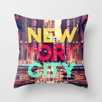 New York City Throw Pillow by IER STUDIO