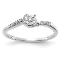 14K White Gold Diamond Accented Promise Ring