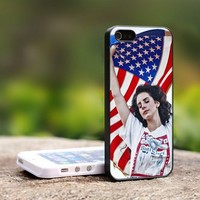 Lana Del Rey America Flag - For iPhone 5 Black Case Cover
