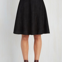 80s Mid-length A-line Flirty Foundation Skirt by Kling from ModCloth