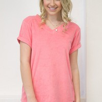 French Terry Top | Jadelynn Brooke | Coral