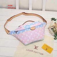 LV Louis Vuitton canvas women's gradient tie-dye belt bag shoulder bag
