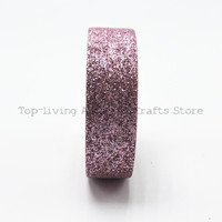 Pink Giltter Washi Tape 5M Length Kawaii Scrapbooking Tools Japanese Stationery Adesiva Decorativa Scrapbook