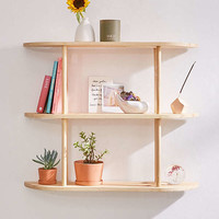 Louie Tri-Tiered Wooden Wall Shelf | Urban Outfitters