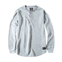 Stussy: Thermal Henley - Grey Heather