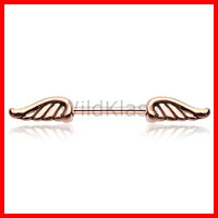 Rose Gold Angel Wing Nipple Barbell Ring