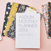 2016 Ardium Pattern monthly dated planner scheduler