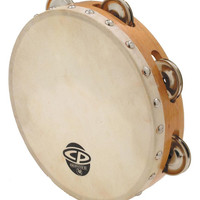 """LP CP Wood Tambourine with Head 8"""""""
