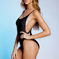 Black Scoop Back Monokini