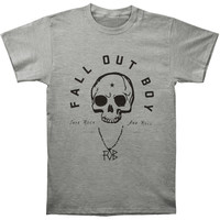 Fall Out Boy Men's  Skull T-shirt Grey Rockabilia