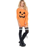 Halloween Dresses,Han Shi Women Sexy Cold Shoulder Pumpkin Fancy Costume Shirt Skirts