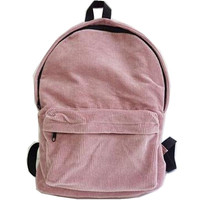 Solid Corduroy Backpacks Bags