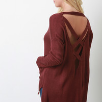 Crisscross Backless Knit Sweater