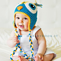Baby Owl Hat 12 to 18 MonthsTeal by conniemariepfost on Etsy