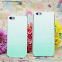 Mint Ombre Gradient Hard Case Cover for iphone 6 6s plus 4 4s 5 5s 5c