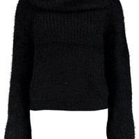 Florence Soft Knit Roll Neck Crop Jumper | Boohoo