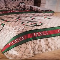 Gucci Bed Set Cover Luxurry Satin cotton Home Decor Queen Size ,Bed Sheets