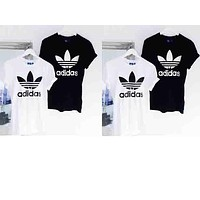 """Adidas"" Popular Women Men Casual Logo Print Short Sleeve T-Shirt Top I"