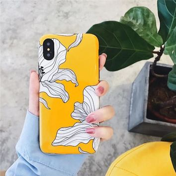 Floral Painted Petals iPhone Case
