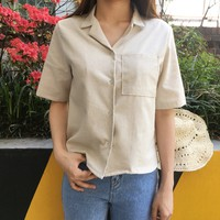 One Chest Pocket Button-Down Shirt | mixxmix