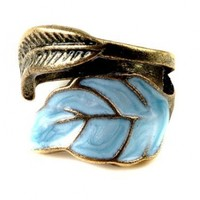 Imixlot® Vintage Style Women's Elegant Enamel Unique Leaves Ring