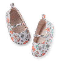 Carter's Floral Mary Jane Crib Shoe