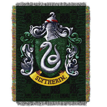 Harry Potter Slytherin Shield  Woven Tapestry Throw (48inx60in)