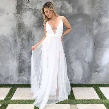All About Love White Maxi Dress