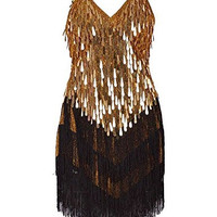 KAYAMIYA Women's Art Deco 1920s Gatsby Tassel Fringe Sway Flapper Costume Dress