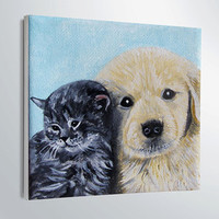 CUSTOM PET PORTRAIT-Dog Portrait-Oil Painting-order-6x6in-Pets-dog face painting-christmas gift-Puppy-cats-art- home decor-pet lovers
